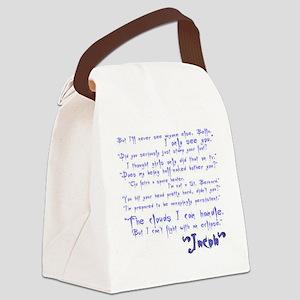 jacobquotes Canvas Lunch Bag