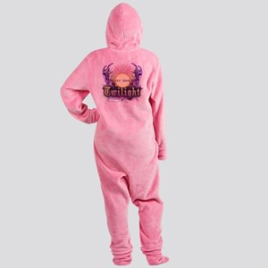 new moon purple crest Footed Pajamas