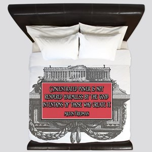 Milton Friedman on Concentrated Power King Duvet