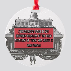 Milton Friedman on Concentrated Pow Round Ornament
