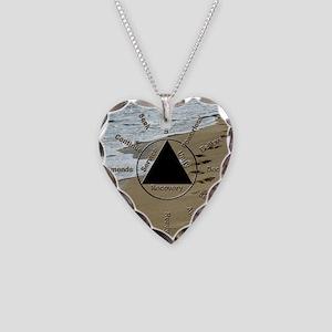 AAClock Necklace Heart Charm
