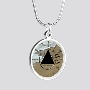 AAClock Silver Round Necklace