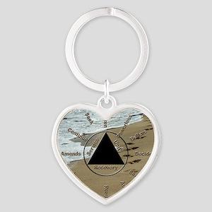 AAClock Heart Keychain