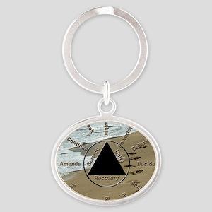 AAClock Oval Keychain