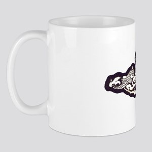 ffish white letters Mug