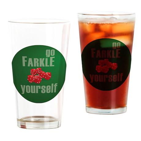 Farkle Yourself 12x12 round Drinking Glass