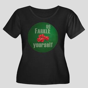 Farkle Y Women's Plus Size Dark Scoop Neck T-Shirt