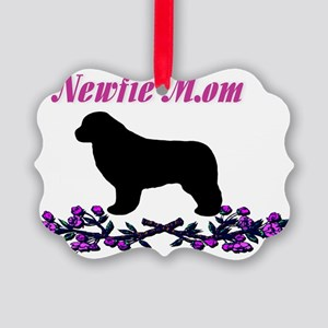 Newfie Mom Picture Ornament