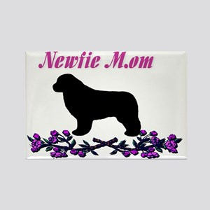 Newfie Mom Rectangle Magnet