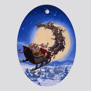 Merry Christmas to All_POSTER Oval Ornament