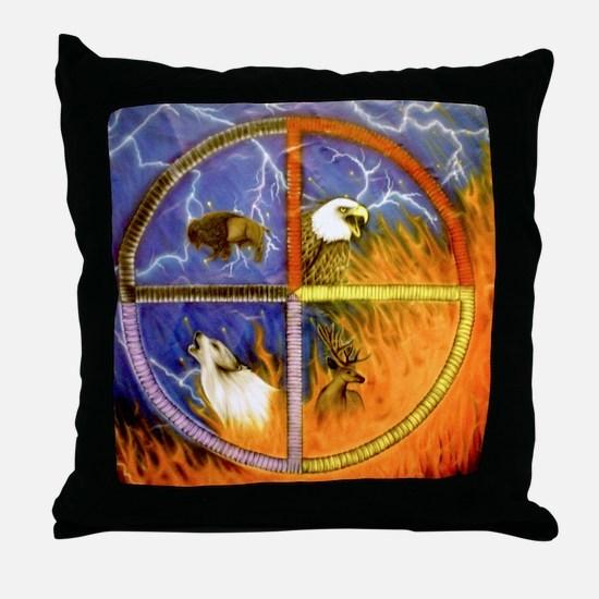 Medicine Wheel Throw Pillow