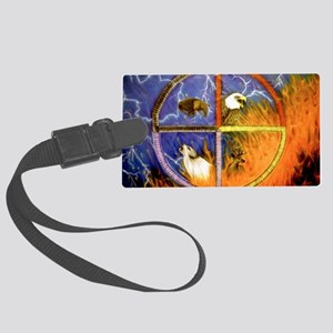 Medicine Wheel Large Luggage Tag