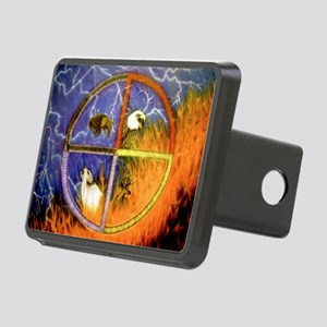 Medicine Wheel Rectangular Hitch Cover