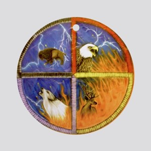 Medicine Wheel Round Ornament