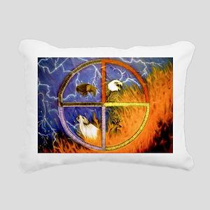 Medicine Wheel Rectangular Canvas Pillow
