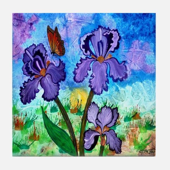 Iris At Sunrise 5.25 Tile Coaster