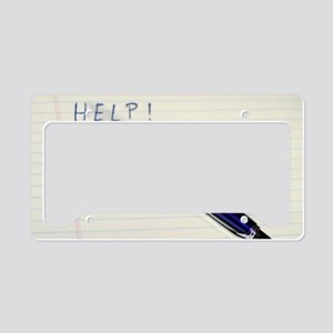 Pen Help License Plate Holder