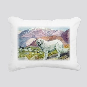 great pyrenees by fuerte Rectangular Canvas Pillow