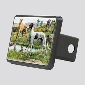 greyhound by fuertes Rectangular Hitch Cover