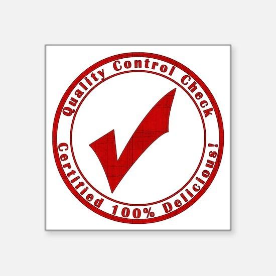 """red-100%-delicious Square Sticker 3"""" x 3"""""""