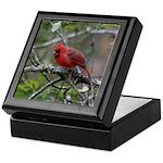Cardinal on Apple Tree Keepsake Box