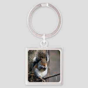 Squirrel #269-1 03-15-09 Bisset Pa Square Keychain