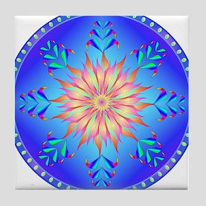 Sun flower-4. Tile Coaster