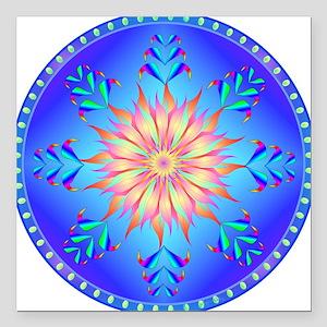 "Sun flower-4. Square Car Magnet 3"" x 3"""