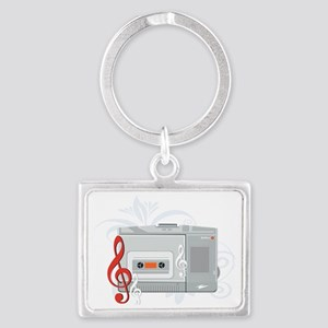 Audio Equipment Landscape Keychain