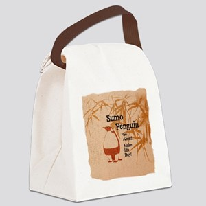 sumopenquin4 Canvas Lunch Bag
