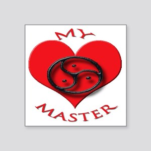 "BDSM love my valentine mast Square Sticker 3"" x 3"""