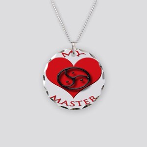 BDSM love my valentine maste Necklace Circle Charm