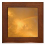 Sunset Rainbow Left Framed Tile