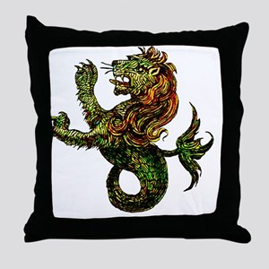 Singa-LautTile Throw Pillow