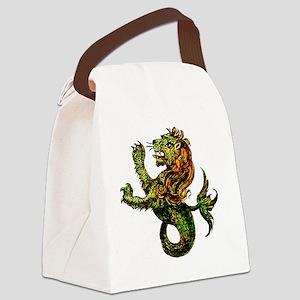 Singa-LautTile Canvas Lunch Bag