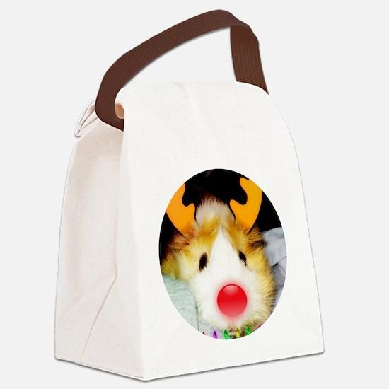 Guinea Pig Christmas Canvas Lunch Bag