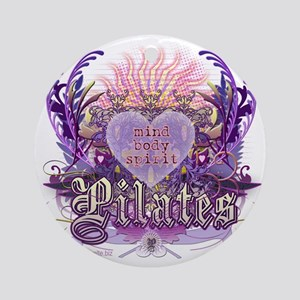 pilates chantilly heart copy Round Ornament