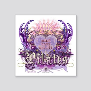 "pilates chantilly heart cop Square Sticker 3"" x 3"""