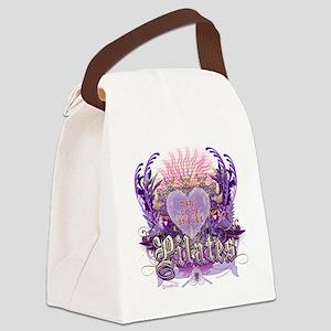 pilates chantilly heart copy Canvas Lunch Bag