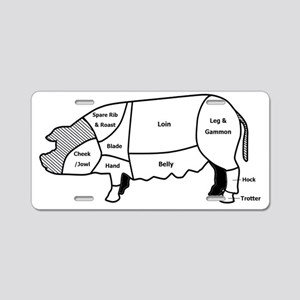 pig diagram1 Aluminum License Plate