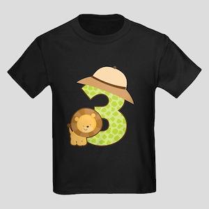 Personalized 3rd Birthday Kids Dark T-Shirt