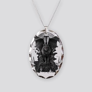 gargoyle Necklace Oval Charm