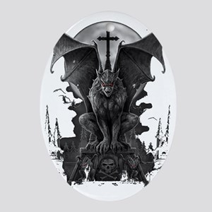 gargoyle Oval Ornament
