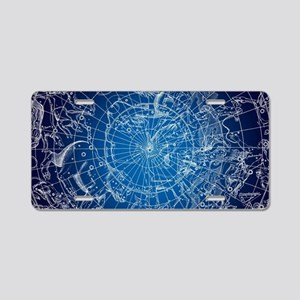 Celestial Map Aluminum License Plate