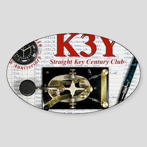 K3Y_QSL_2010_narrow Sticker (Oval)