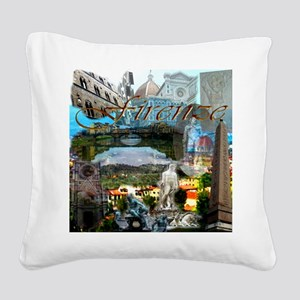 florence13a-10x10 Square Canvas Pillow