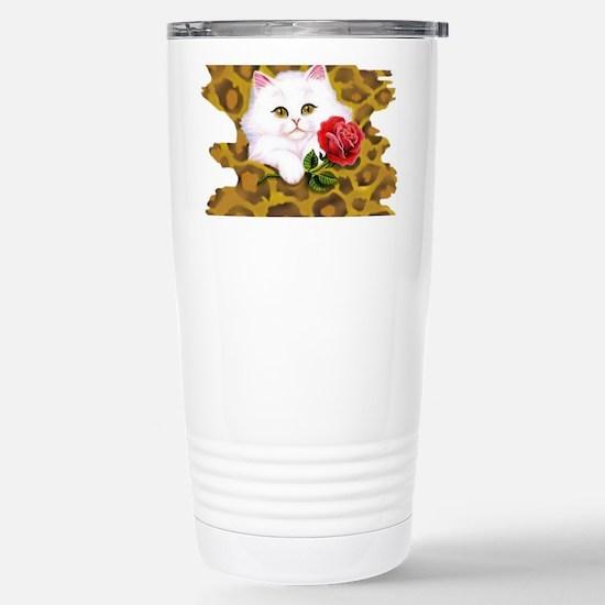 Phreak leopard kitten Stainless Steel Travel Mug