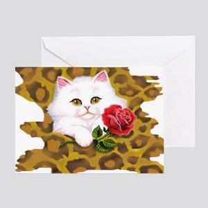 Phreak leopard kitten Greeting Card