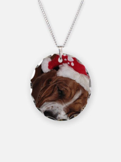 Christmas Basset Necklace