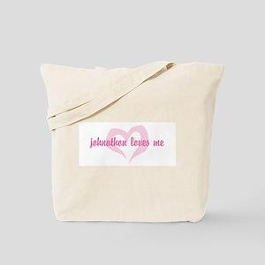 """johnathon loves me"" Tote Bag"